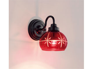 ENDO/遠藤照明 ERB6436R 和風照明 ブラケット 透明カット入ガラス 【電球色】ランプ付