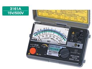 【ポイント10倍】 KYORITSU/共立電気計器 キューメグ 3161A 2レンジ小型絶縁抵抗計(15V/500V), スポーツネットさっぽろ 9763b9dc