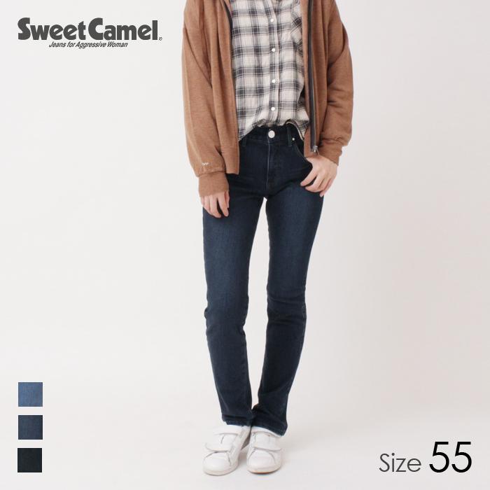 Sweet Camel/スウィートキャメル h:e:r florost フラワーオイル ハイブリッドストレートデニムパンツ(R5=濃色USED/サイズ55) CA6502 【2018秋冬新作】