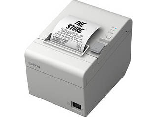 EPSON/エプソン レシートプリンター/用紙幅58mm・80mm(選択可)/Bluetooth/電源同梱/壁掛け金具同梱/ホワイト T203B088W