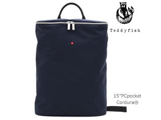 teddyfish/テディフィッシュ コンパクトオフィスバックパック【ネイビー】■コーデュラ/15インチPCスペース■(33/TF_cdr_navy )