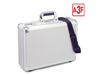 アルミアタッシュケース【A3ファイル対応】両側に3桁ダイヤル錠■ショルダーベルト付き
