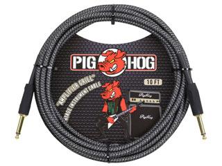 """世界最強コスパケーブルPIG HOG日本上陸 PIG HOG 70%OFFアウトレット PCH10AG ギターケーブル 10ft Cable 信託 Grill"""" Series Vintage """"Amp Inst"""