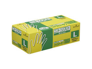 SHOWA/ショーワグローブ 食品衛生法適合品 ニトリルゴム使い捨て手袋 No883 ニトリスト・タフ 100枚入 Lサイズ