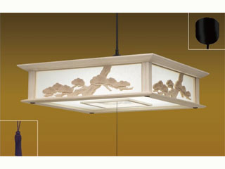 TAKIZUMI/タキズミ RVM12048 和室LEDペンダントライト 木製枠(彫刻飾り)【~12畳】