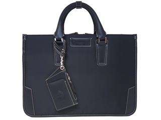 PID/ピー・アイ・ディー 25642 メンズ パスケース付 薄マチビジネスバッグ (ブラック)