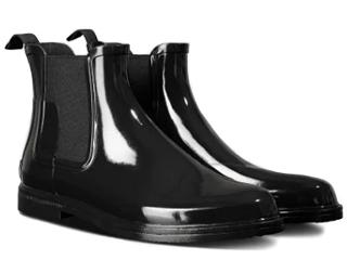 HUNTER/ハンター ★★★メンズ リファンドグロスチェルシーブーツ 9(28cm) ブラック MFS9060RGL-BLK