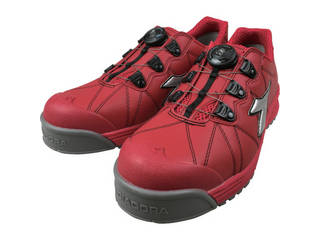 DONKEL/ドンケル DIADORA/ディアドラ 安全作業靴 フィンチ 赤/銀/赤 24.5cm FC383-245