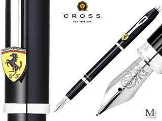 CROSS/クロス 万年筆■センチュリー フォー スクーデリア・フェラーリ【グロッシーブラック/M】ステンレスペン先