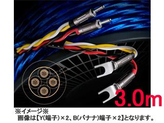6N・4種新ハイブリッド、シールド付4芯特太バイワイヤー対応スピーカーケーブル 【受注生産の為、キャンセル不可!】 Zonotone/ゾノトーン 6NSP-Granster 7700α(3.0mx2、Yx2/Bx4)