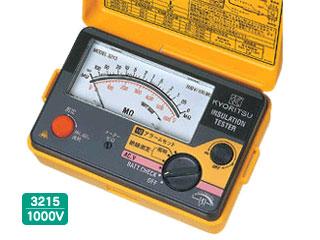 KYORITSU/共立電気計器 キューメグ 3215 アラーム付絶縁抵抗計【1000V】