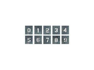 TSUKUSHI/つくし工房 吹付プレート 数字(0~9) 10枚組 中サイズ J-91B