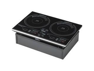 YAMAZEN 2口IH調理器 ブラック IHW-S1460G(B