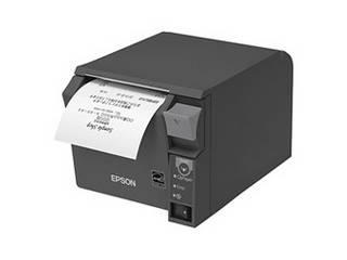 EPSON/エプソン サーマルレシートプリンター/80mm/USB・有線LAN/前面操作/ダークグレー TM702UE232
