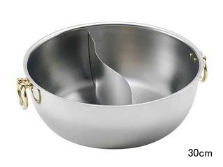 SW SW 電磁しゃぶしゃぶ鍋 30cm 真鍮柄 真鍮柄 半ストレート仕切 30cm, 鶴ヶ島市:2069f84a --- itxassou.fr