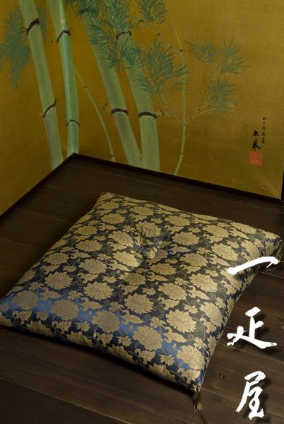 緞子(一重蔓・牡丹唐草)座布団 65×69cm ※夫婦判