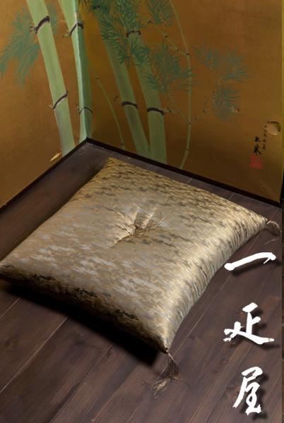 正絹緞子(山水)座布団 65×69cm ※夫婦判