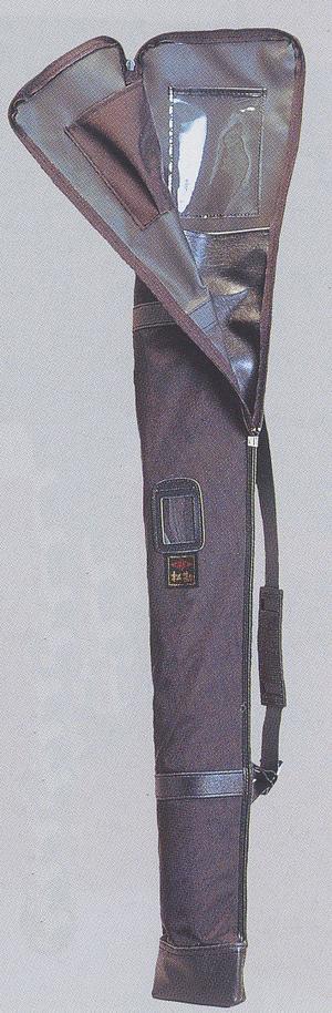 【松勘 居合道】居合刀袋 黒ナイロン 大刀・小刀用2本入 居合道【送料込】