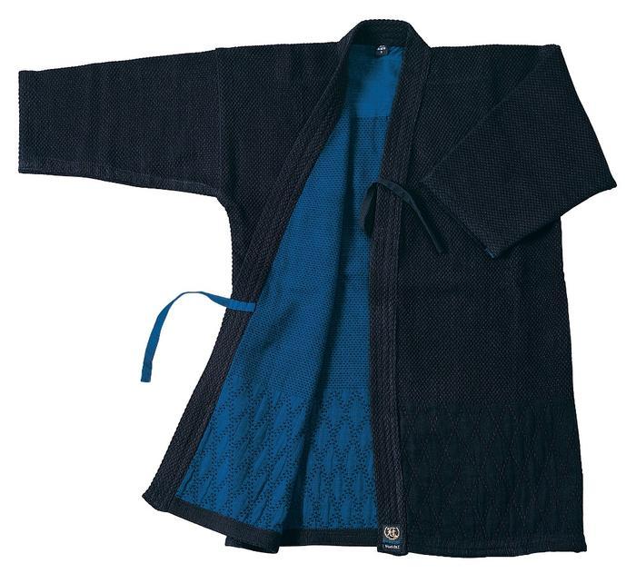 【松勘 剣道】実践型 二重剣道着 軽量・二重・背継・藍染 【送料無料】
