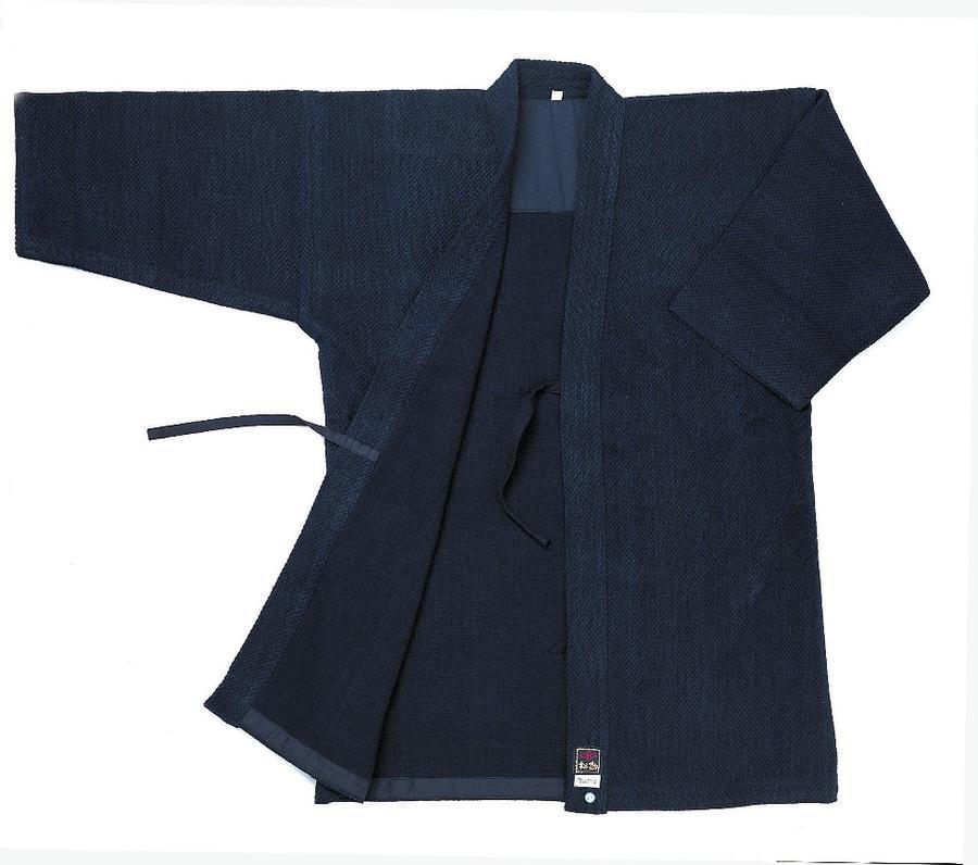 【松勘 剣道着】一重織刺剣道着 KG-1500W(藍染) ウォッシュ加工
