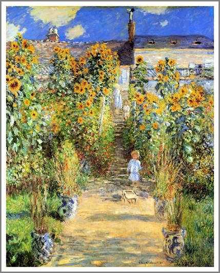 Charming Claude Monet Vetheuil Monetu0027s Garden ◇ F10(53.0 X 45.5 Cm) ◇ Bespoke  Production