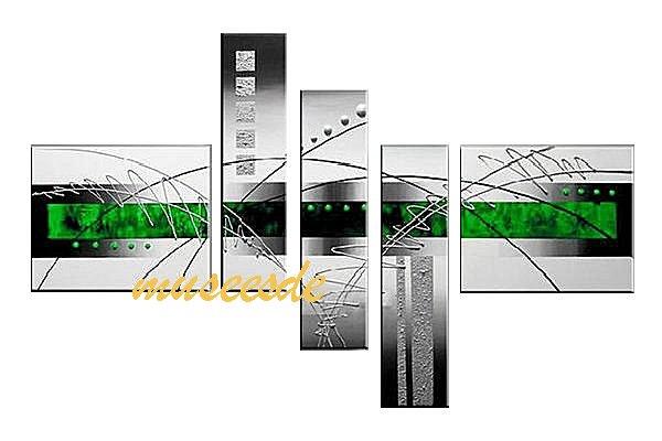 本物肉筆手軽く、取付簡単 壁掛け装飾テナント ホテル レストラン 飲食店 事務所プレゼント・贈答品・ギフトにも人気 【ミュゼ・デユ】【手書き】【油絵画】【モダン】【インテリア】【壁掛け】【円系】【曲線】【抽象】【凹凸】【グラデーション】【モノトーン】『パネルアート』5パネルSET和風 ヨーロッパ 金運 緑 シルバー P5M047