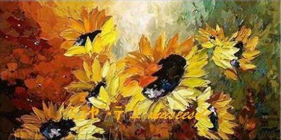 【絵画】【モダン】【手書き】【油絵】【自然画】【風景】【花】【壁掛け】【インテリア】『パネルアート 』『アートパネル』1パネルSET 特大!BIGサイズヨーロッパ アヤメ ひまわり ヒマワリ 黄橙赤 P1H026