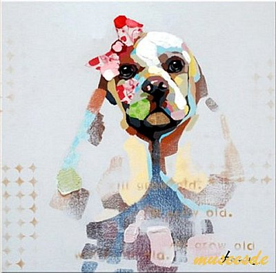 熊 馬フレンチ・ブルドッグ 魚 手書きパネルアート 虫 猫 ミュゼ・デユ 鹿 壁掛け 蛙 ファブリックパネルアートペット絵画 猿 動物油彩絵 鳥 ADD007 フレームアート犬 オイルペイントモダン