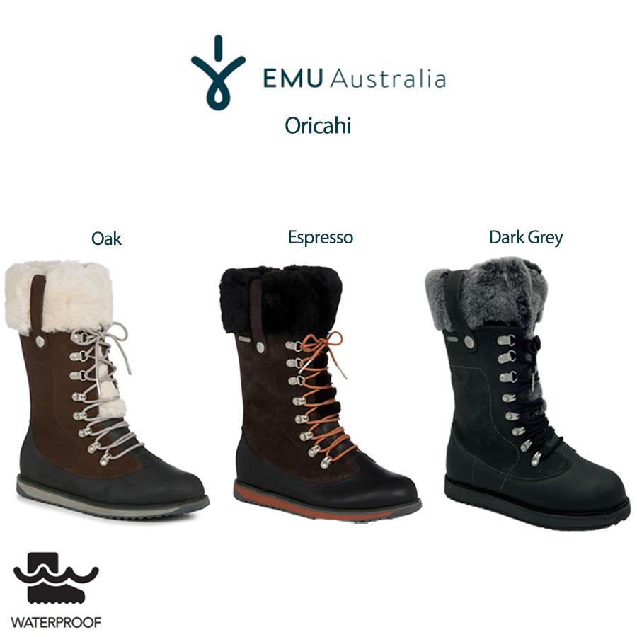 EMU エミュー Australia 通販 Orica Hi オリカハイムートンブーツ w12327 防水 シープスキンスエードブーツ 24cm 25cm アウトドアブーツ (日本正規販売店)