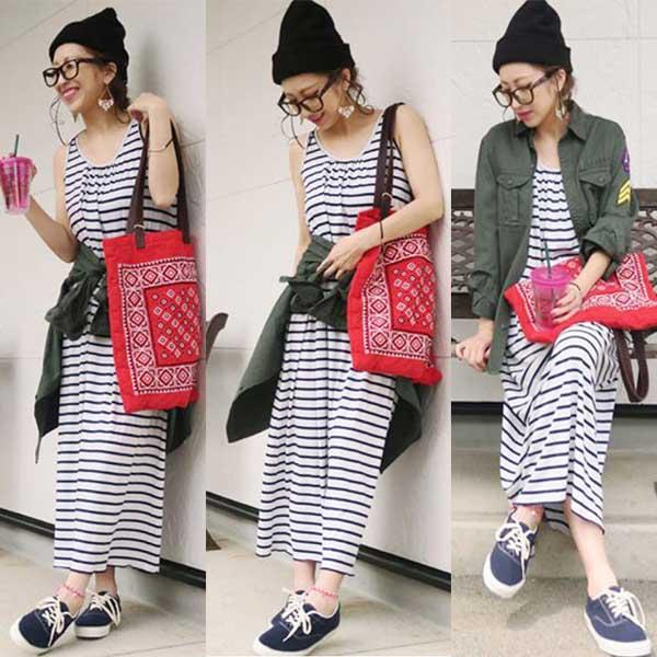 特別価格/Buyer's Select / RELAX Sleeveless long dress / ch-005/mu-001