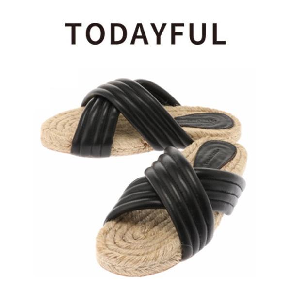 (ポイント5倍)SALE30%OFF TODAYFUL トゥデイフル Cross Leather Sandals サンダル 11611024【ラッキーシール対応】