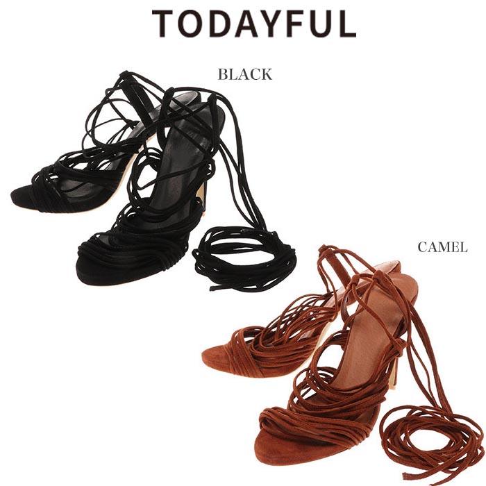(ポイント5倍)SALE40%OFF TODAYFUL トゥデイフル Suede Lace Up Sandals サンダル 11611030【ラッキーシール対応】