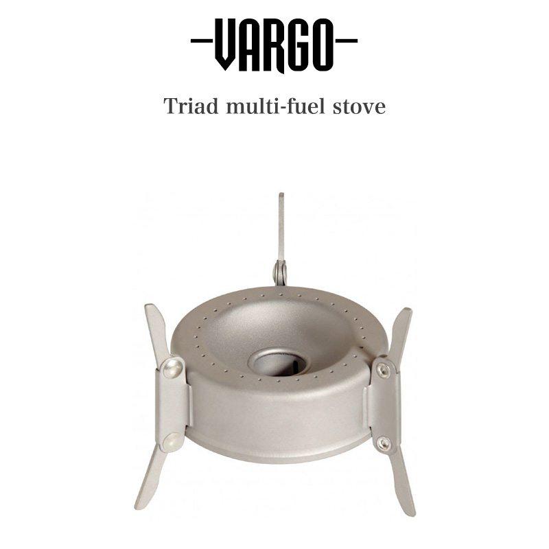 連続燃焼時間約20分 アルコール 固形燃料 新商品 新型 燃料ジェルでの使用を可能にしたストーブ VARGO バーゴ 通販 ブッシュクラフト アウトドア t-305vargo キャンプギア アルコールストーブ 低価格 チタニウムトライアドマルチフューエルストーブ