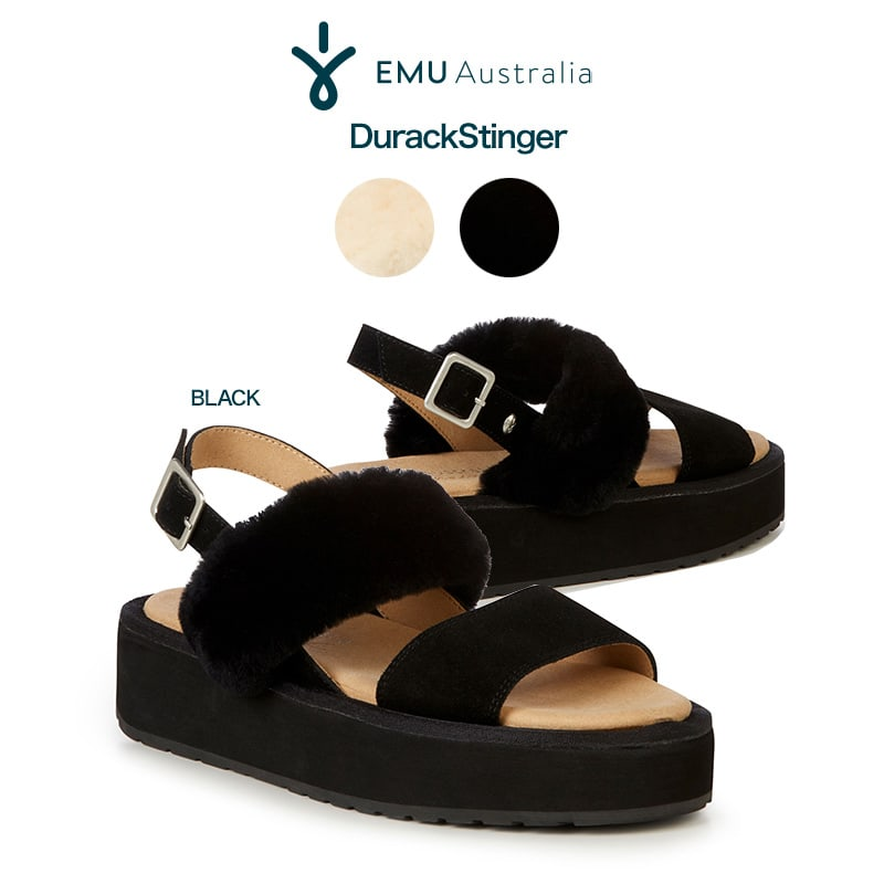 EMU (エミュー) Australia 通販 Durack Stinger ダラック・スティンガー 厚底ダブルベルトストラップ付きサンダル w12180 外履き 23cm/24cm/25cm 2020春夏サンダル セレクトショップムー