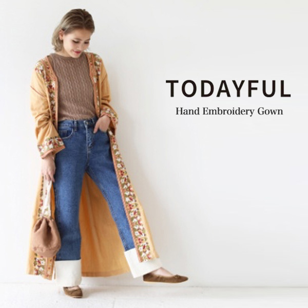 SALE40%OFF TODAYFUL トゥデイフル Hand Embroidery Gown ハンド刺繍ガウン 11810003【ラッキーシール対応】