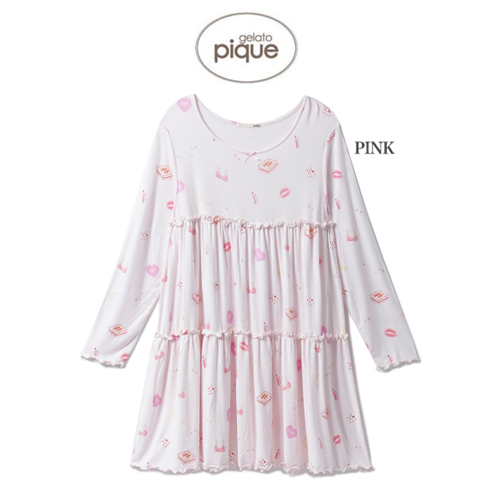 Gelato Pique Picket Dress Mail Order Girls Nightdress Pwco185215 2018 House Coat Pajamas Knee Long Japanese Paper Sleeve Gift