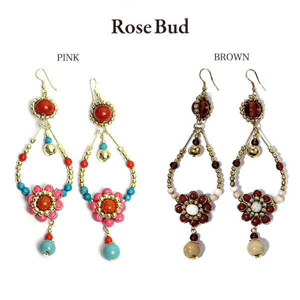 ROSE BUD / Flower Drops Pierced earring / 096646/2013SS/selectshop mu/