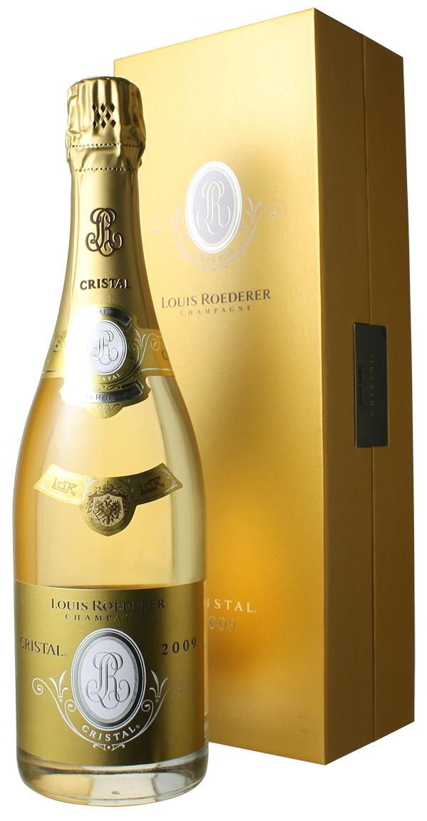 【送料無料】ルイ・ロデレール クリスタル・ブリュット ギフトボックス入り [2009] <白> <ワイン/シャンパン>