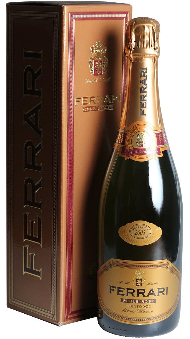 フェッラーリ・ペルレ・ロゼ・ミレジム [2003] フェッラーリ <ロゼ> <ワイン/スパークリング>【■5007103】 ※即刻お取り寄せ品!ヴィンテージ変更と欠品の際はご連絡します!