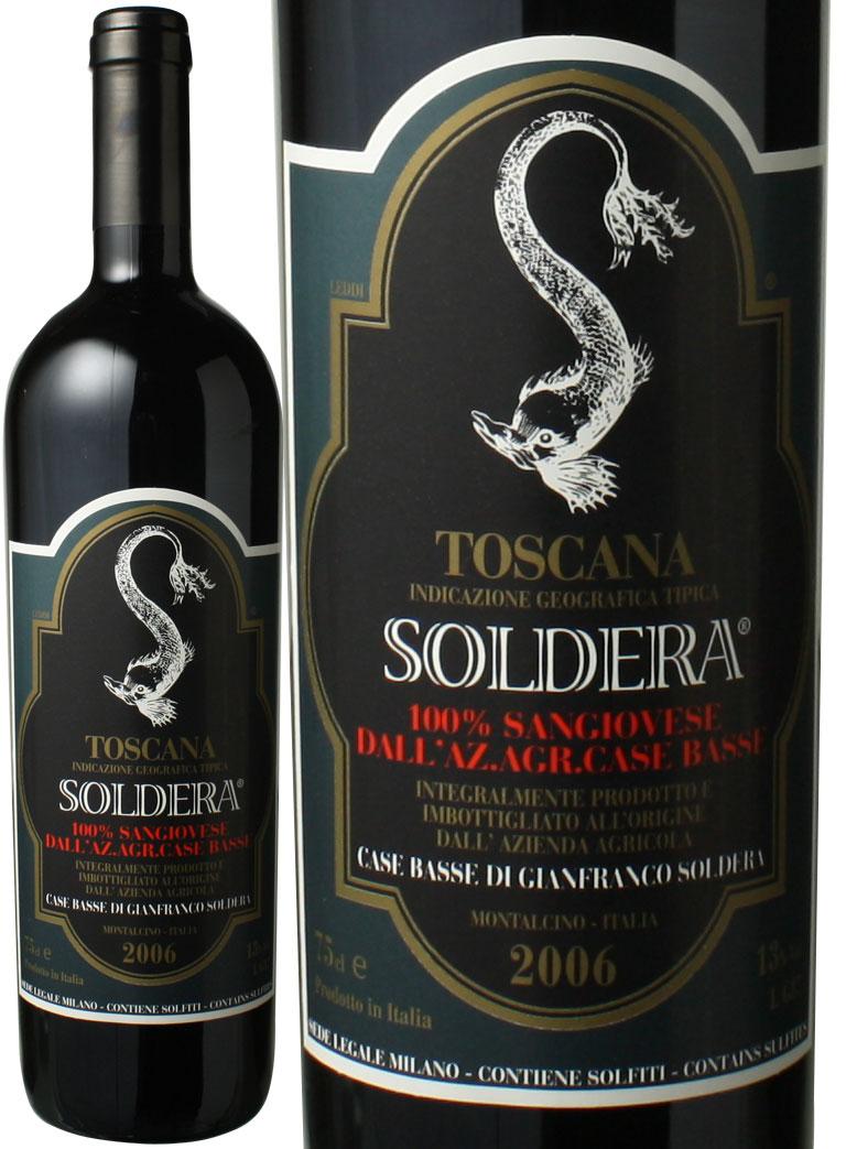【送料無料】トスカーナ ソルデーラ 100%サンジョヴェーゼ [2006] カーゼ・バッセ <赤> <ワイン/イタリア>
