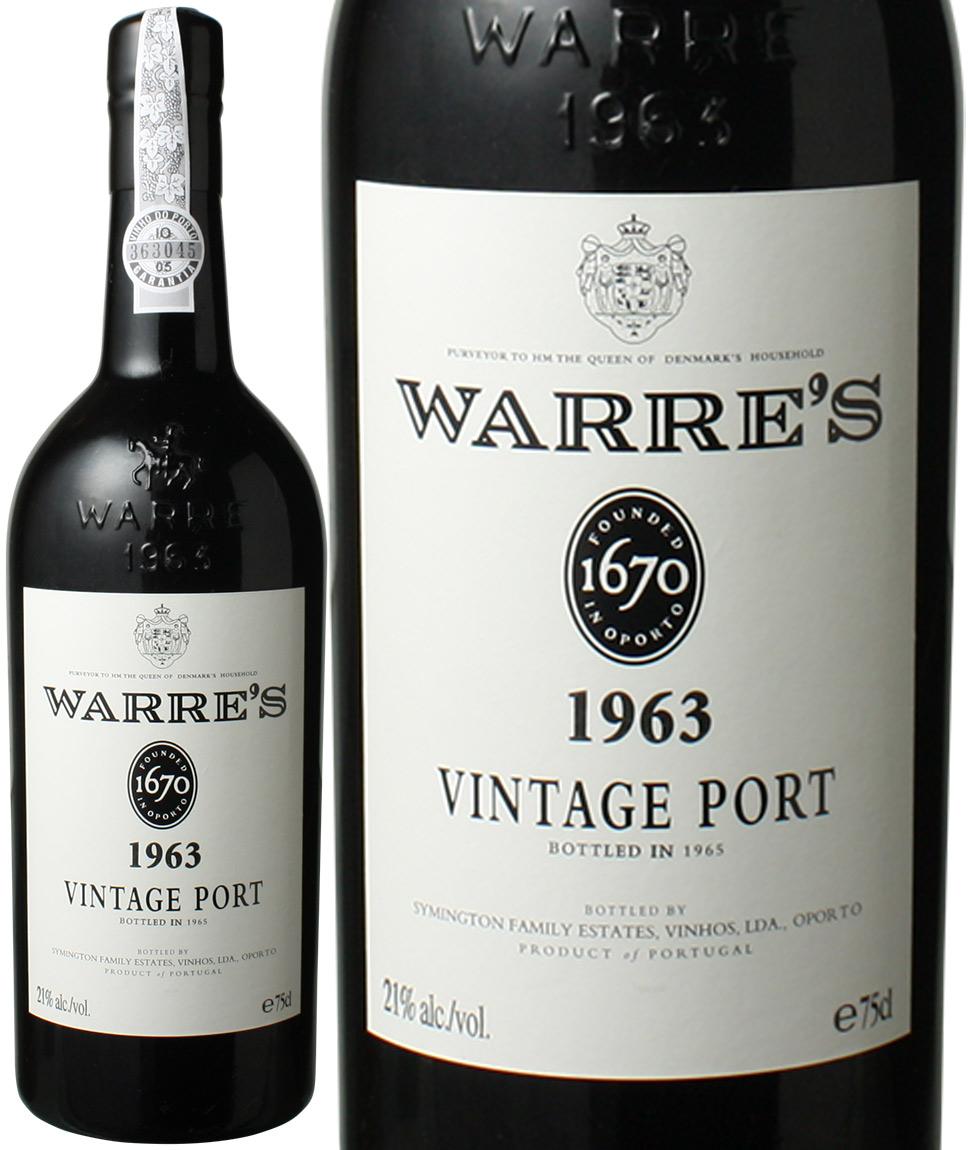 【送料無料】ワレ ヴィンテージポート [1963] <赤> <ワイン/ポルトガル>