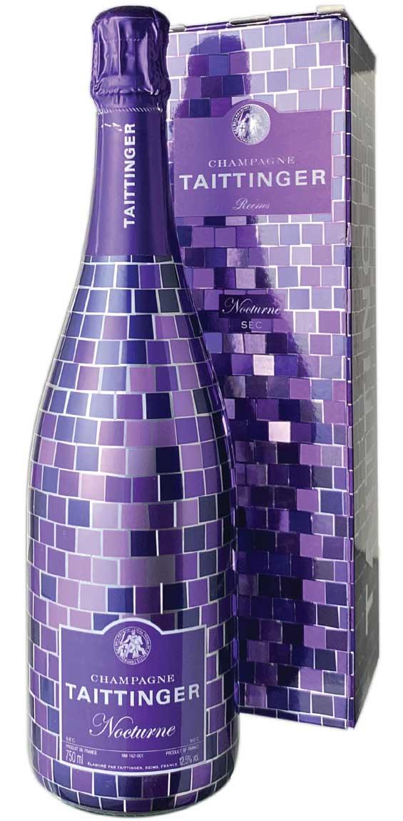 送料無料 格安SALEスタート テタンジェ ノクターン パープルナイト エディション NV シャンパン セック 白 ワイン 新作入荷