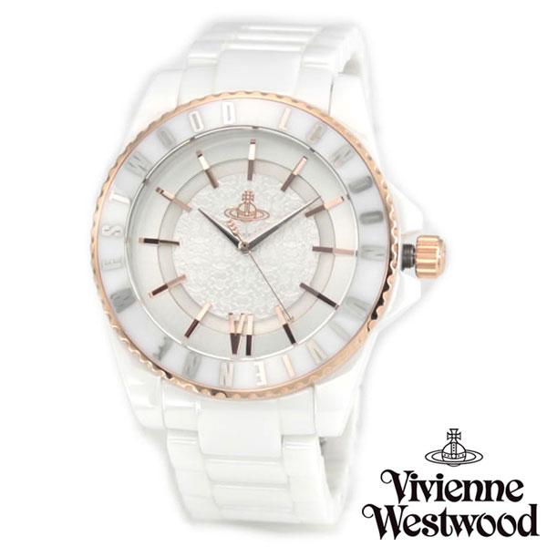 【送料無料】 ヴィヴィアンウエストウッド 時計 ヴィヴィアン 腕時計 Vivienne Westwood VV048RSWH ユニセックス メンズ レディース Ceramic セラミック ビビアン うでとけい【あす楽対応】【ブランド】【ラッキーシール対応】【セール】