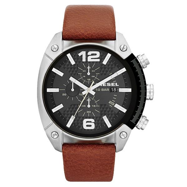 【送料無料】DIESEL ディーゼル メンズ 腕時計 時計 DZ4296 OVERFLOW オーバーフロー ブラック×ブラウンベルト【あす楽対応】【ブランド】【プレゼント】【セール】