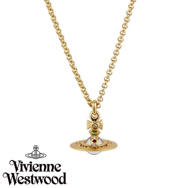 【送料無料】 ヴィヴィアン ウエストウッド ネックレス Vivienne Westwood ペンダント アクセサリー ビビアン NEW PETITE ORB PENDANT GOLD 752116B-2 752116B/2 ヴィヴィアン・ウエストウッド ビビアン 【あす楽対応】【プレゼント】【ブランド】【セール】
