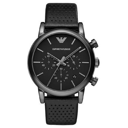 【送料無料】 EMPORIO ARMANI エンポリオアルマーニ メンズ 腕時計 AR1737 Classic クラシック クロノグラフ ブラック エンポリオ・アルマーニ エンポリ アルマーニ 時計 とけい【あす楽対応】【ブランド】【プレゼント】【セール】