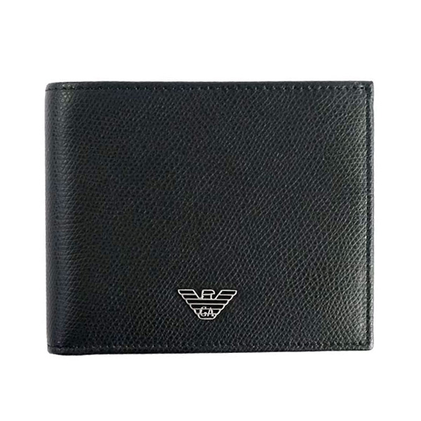 ba93d6fe95b0 【送料無料】EMPORIO ARMANI 財布 エンポリオアルマーニ 二つ折り財布 メンズ 本革 革