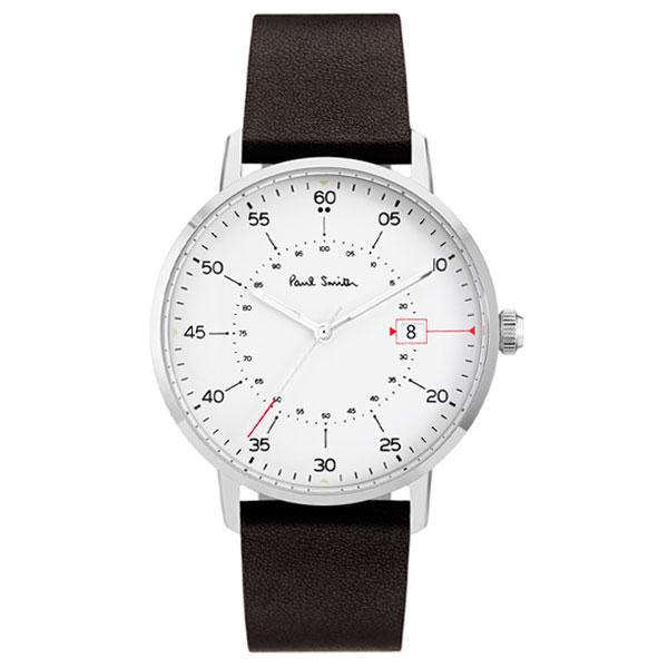 【超目玉】ポールスミス 時計 Paul Smith 腕時計 P10072 Gauge ゲージ メンズ ウォッチ ホワイト×シルバー×ブラック とけい【送料無料】【あす楽対応】【プレゼント】【商品入れ替えのため大赤字特価】【セール】