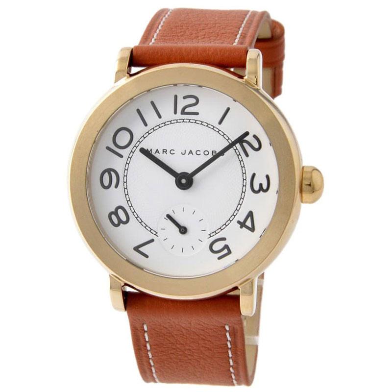 【送料無料】マークジェイコブス 時計 MARC JACOBS 腕時計 ユニセックス レディース MJ1574 時計 Riley ライリー ホワイト×ゴールド×ブラウン【あす楽対応】【プレゼント】【ブランド】