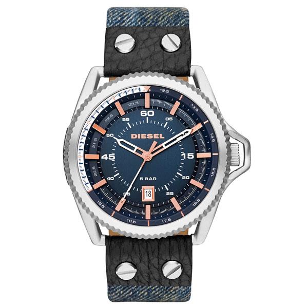 【送料無料】 ディーゼル 時計 DIESEL 腕時計 DZ1727 メンズ ネイビー×デニムベルト×ピンクゴールド ロールケージ ROLLCAGE とけい ウォッチ【あす楽対応】【プレゼント】【ラッキーシール対応】【セール】